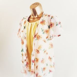Live to be Spoiled Tops - 💐5/$25LIVE TO BE SPOILED FLORAL KIMONO SIZE SMALL